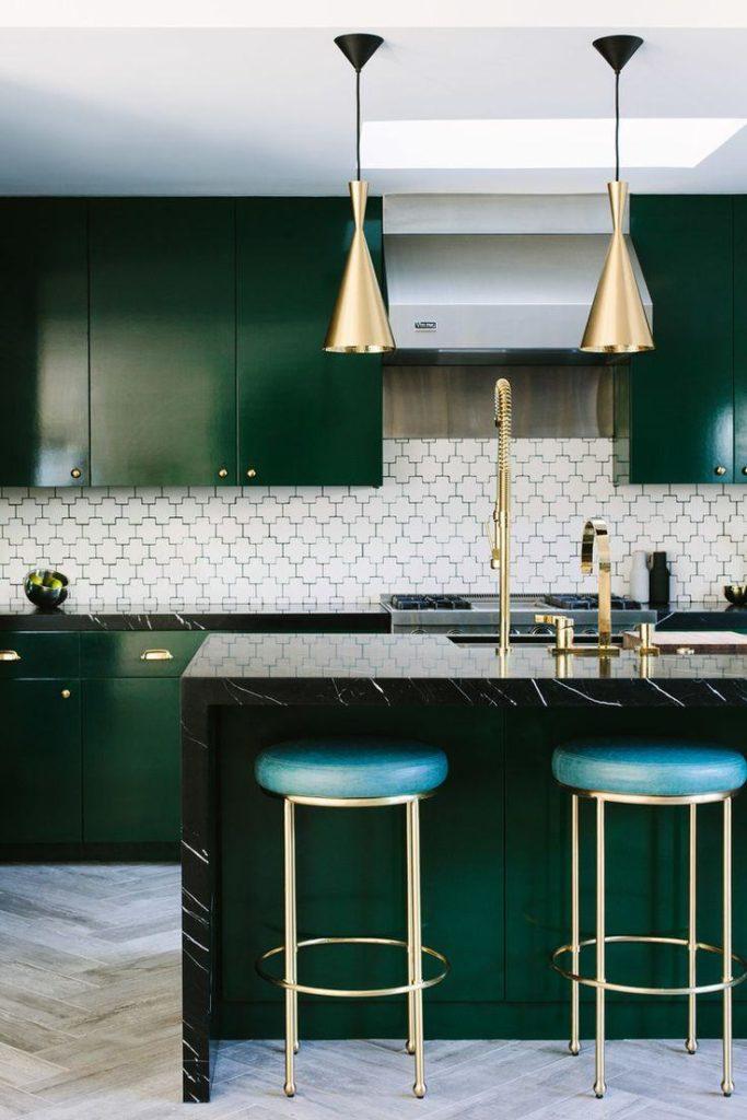 cozinha cores balanceadas