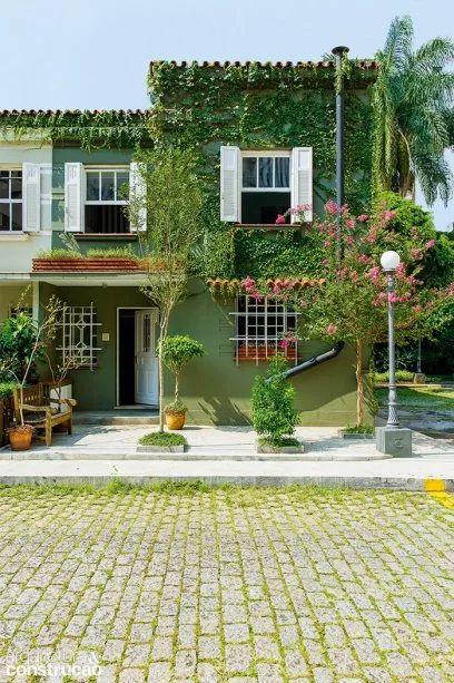 fachada verde e vegetação