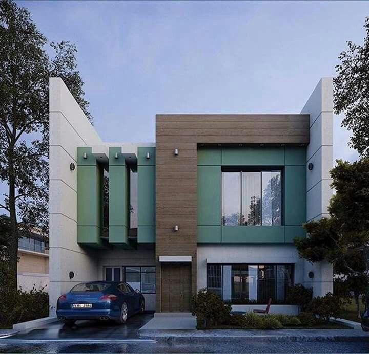 fachada detalhes verde