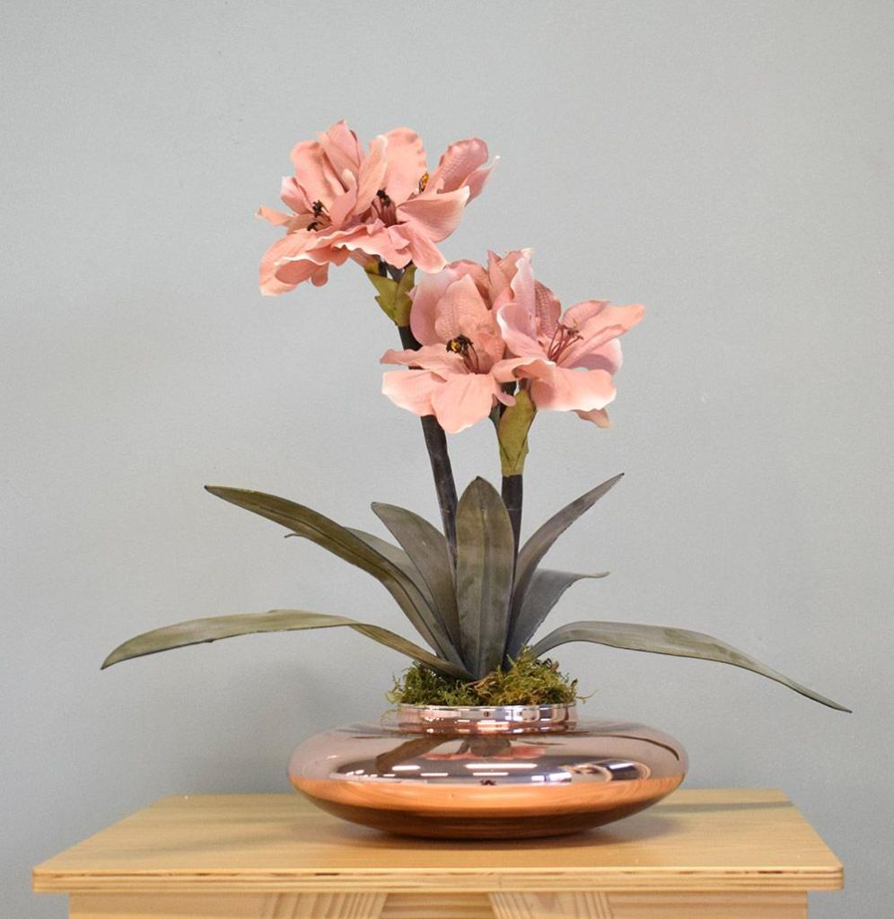vaso metalizado para decorar