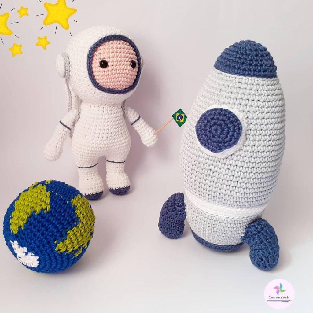 amigurumi de astronauta