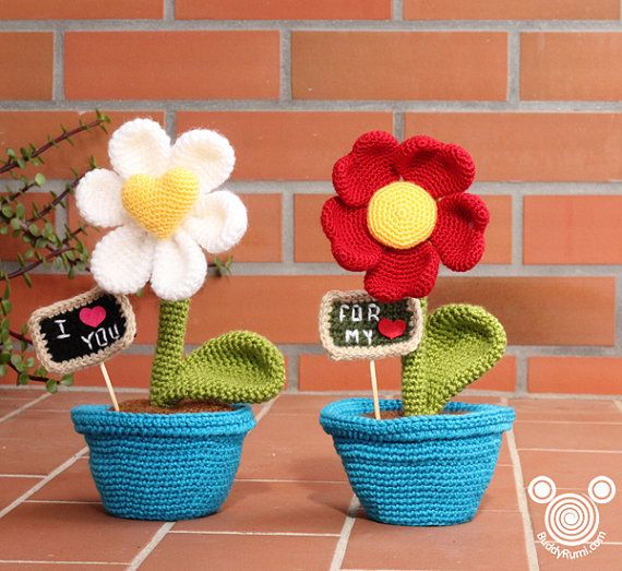amigurumi de flores