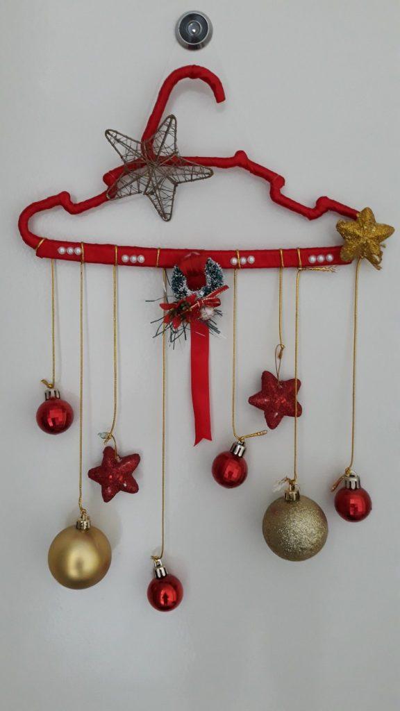 decoração de natal com cabide