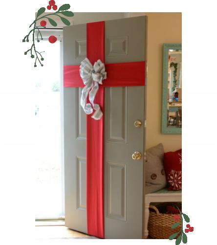 decoração de natal na porta