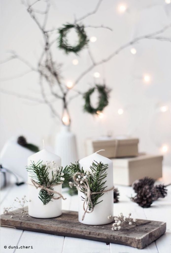 Velas decorativas de natal