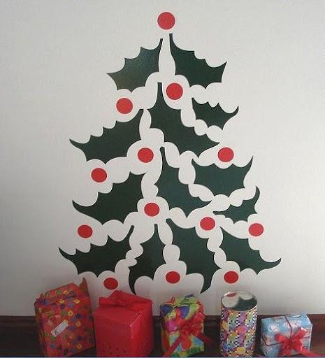 adesivo de árvore natalina