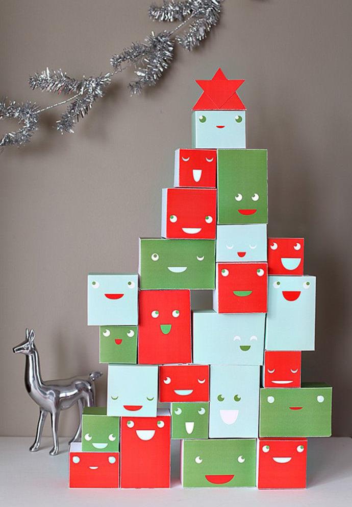 decoração de natal com caixas