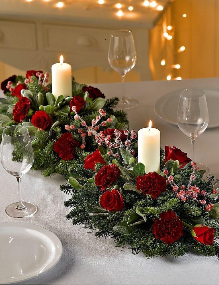 mesa decoração de natal