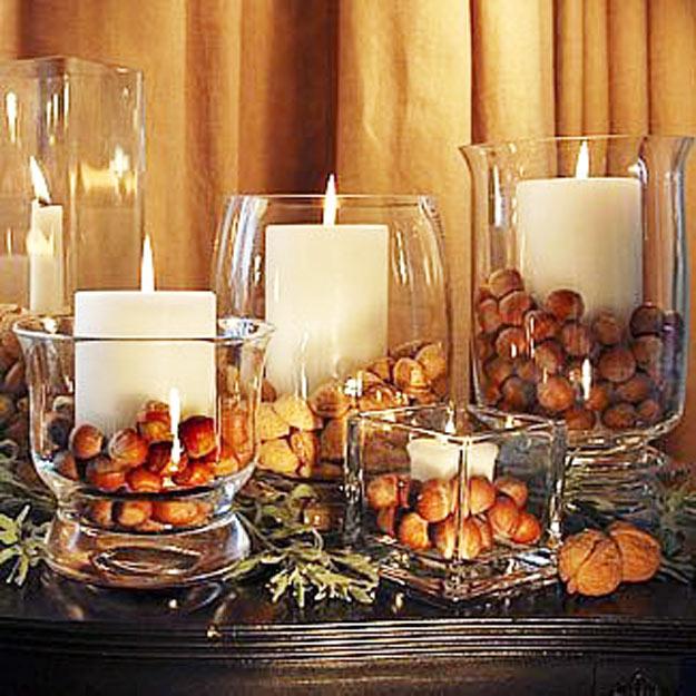 castanhas para decoração
