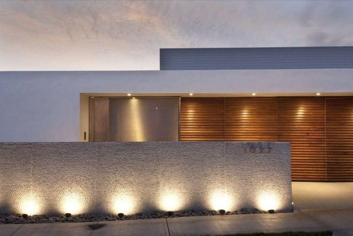 muros de casas iluminação