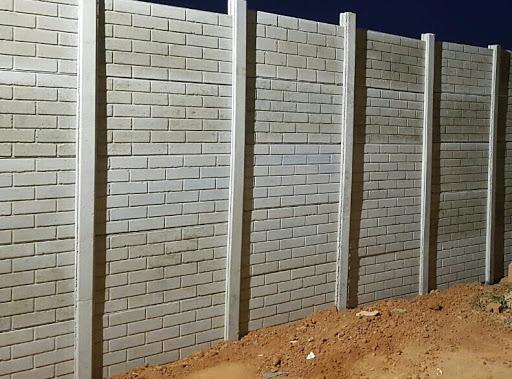 muros de casas de tijolo de concreto