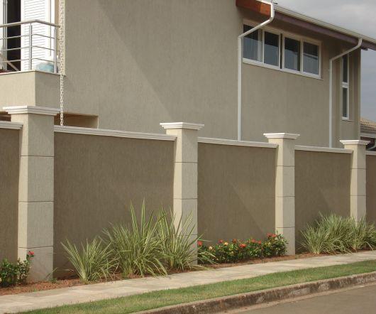 muros de casas alto padrão