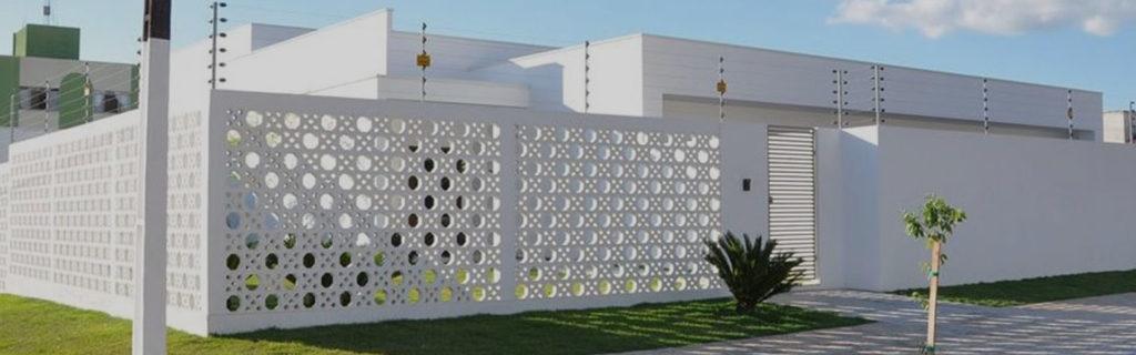 muros de casas vazado