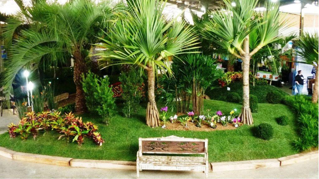 jardim completo com planta ornamental