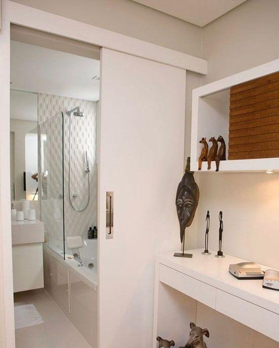 porta de correr para banheiro roldana escondida