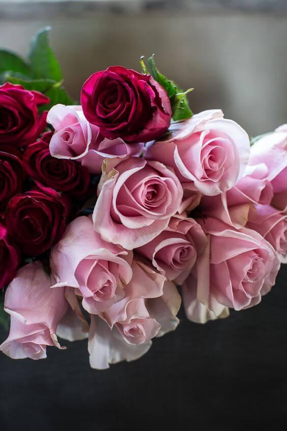 composições com rosas