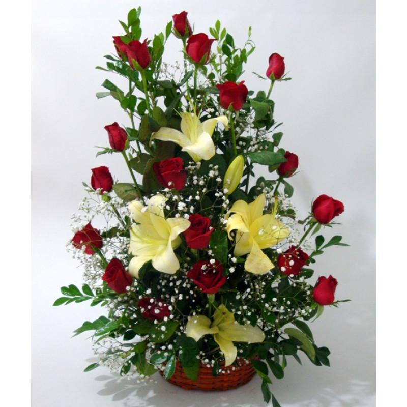 arranjo com rosas