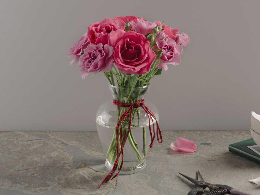 decoração com rosas