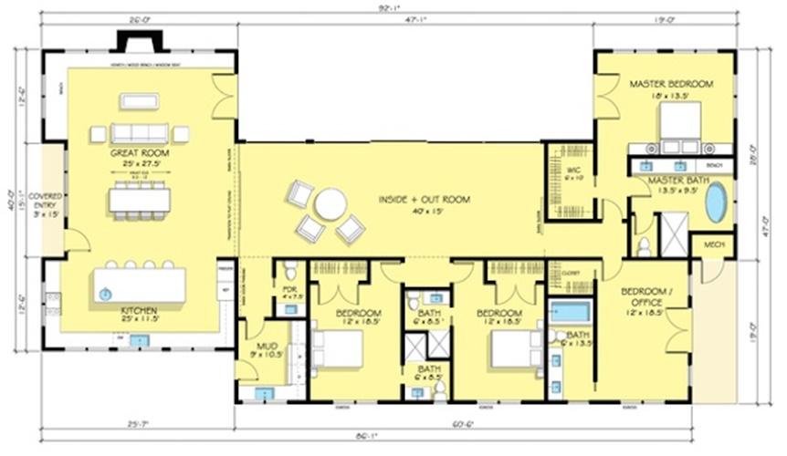 casa com sala grande