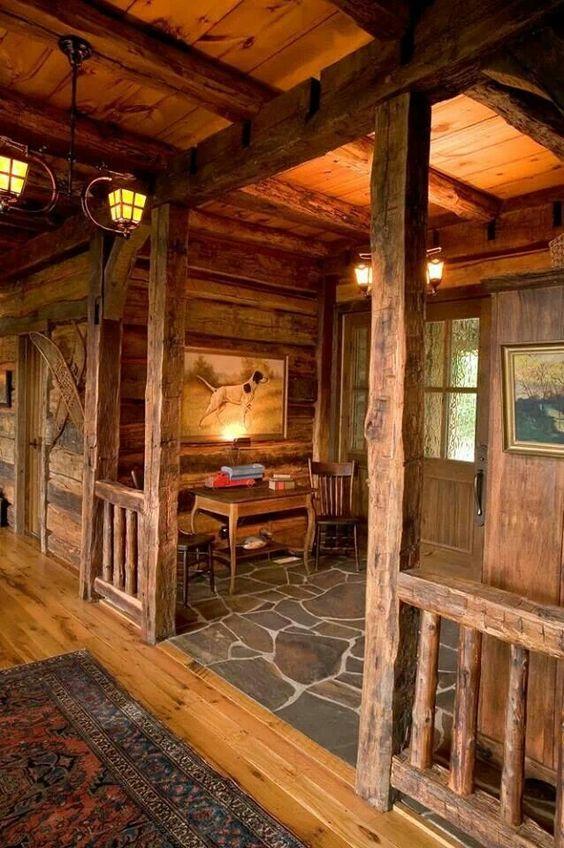 interior de casa rústica
