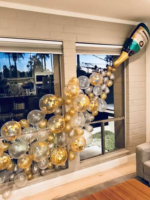 entrada com balões