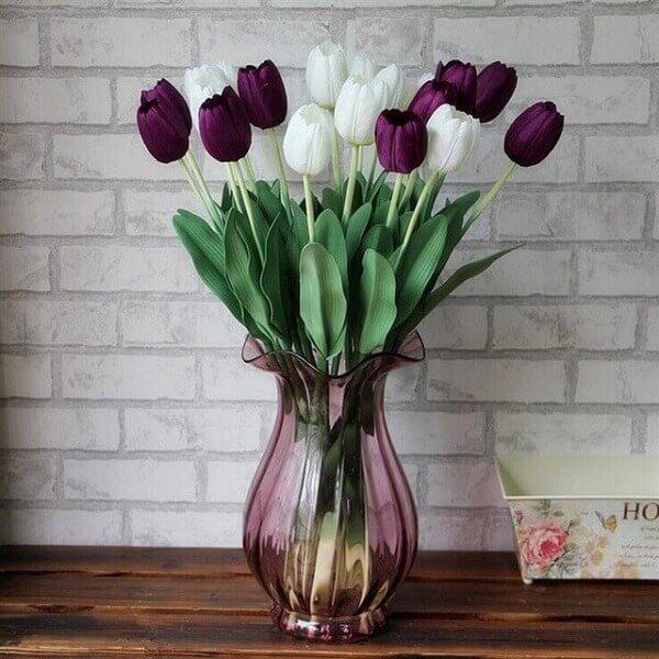 cores diferentes de tulipas