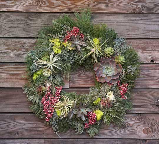 guirlanda natural para decoração de natal