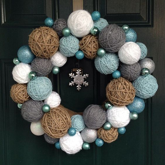 decoração de natal com lã