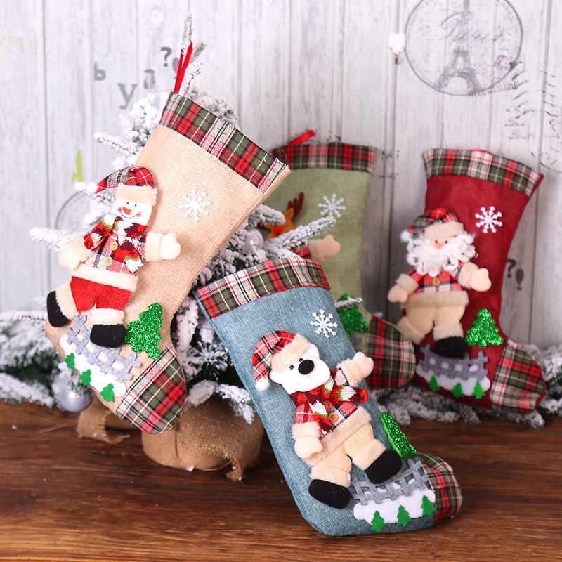 decoração de natal com meias