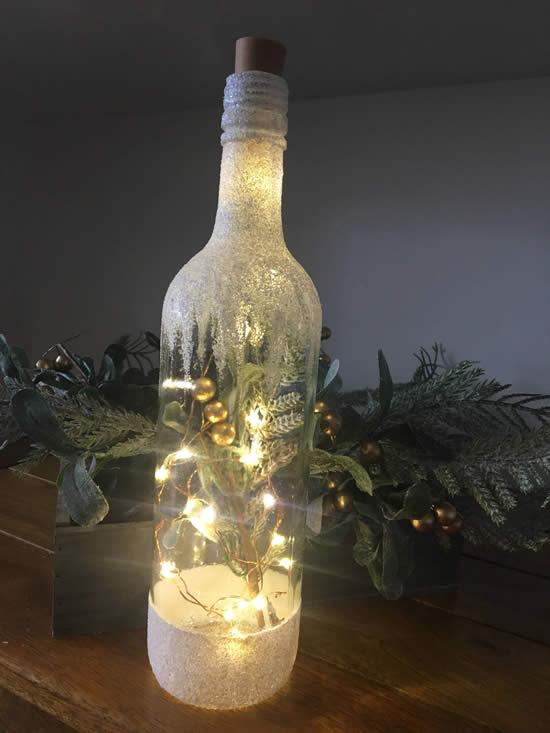 garrafa iluminada de natal