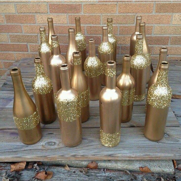garrafa dourada para natal