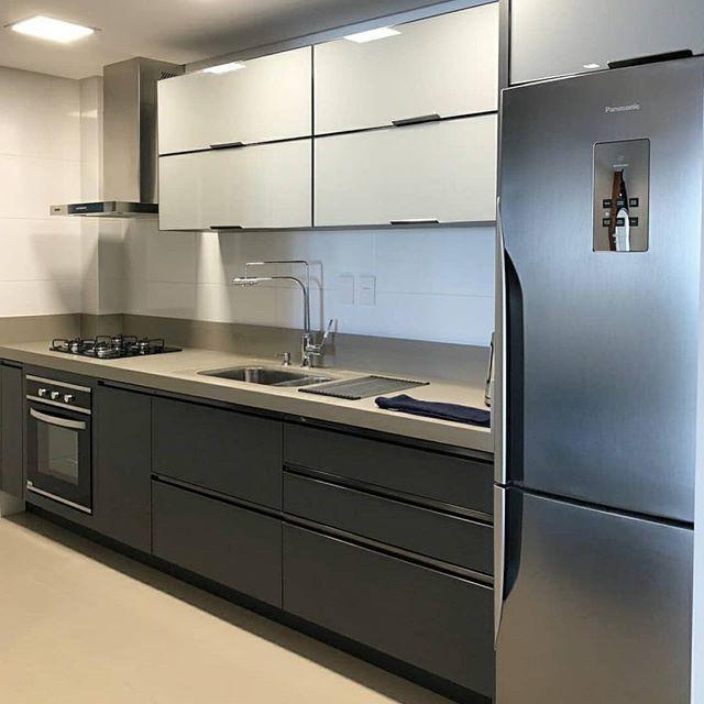 cozinha com granito branco