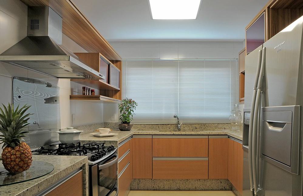 granito branco siena em toda cozinha