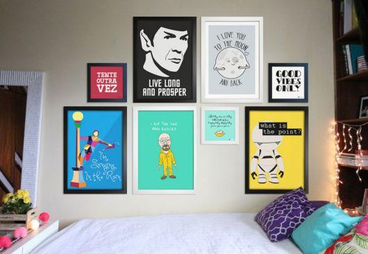 decoração de quarto geek