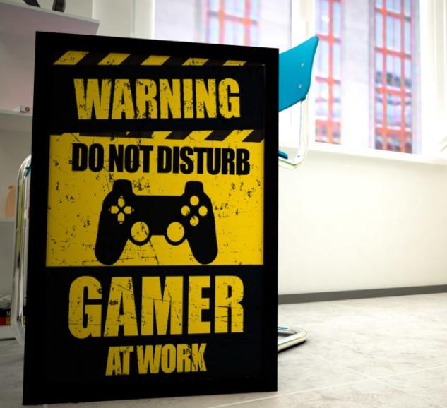 cartaz de advertência