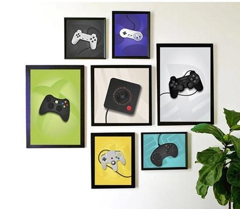 poster com consoles antigos