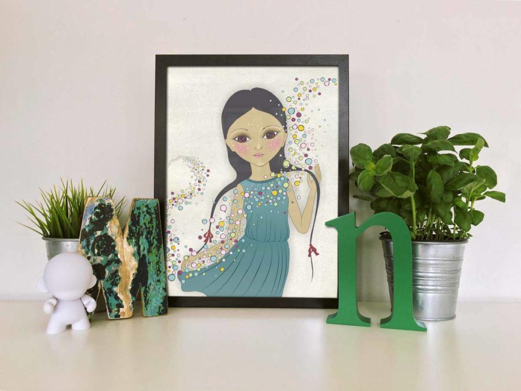 Pôster para imprimir grátis de boneca