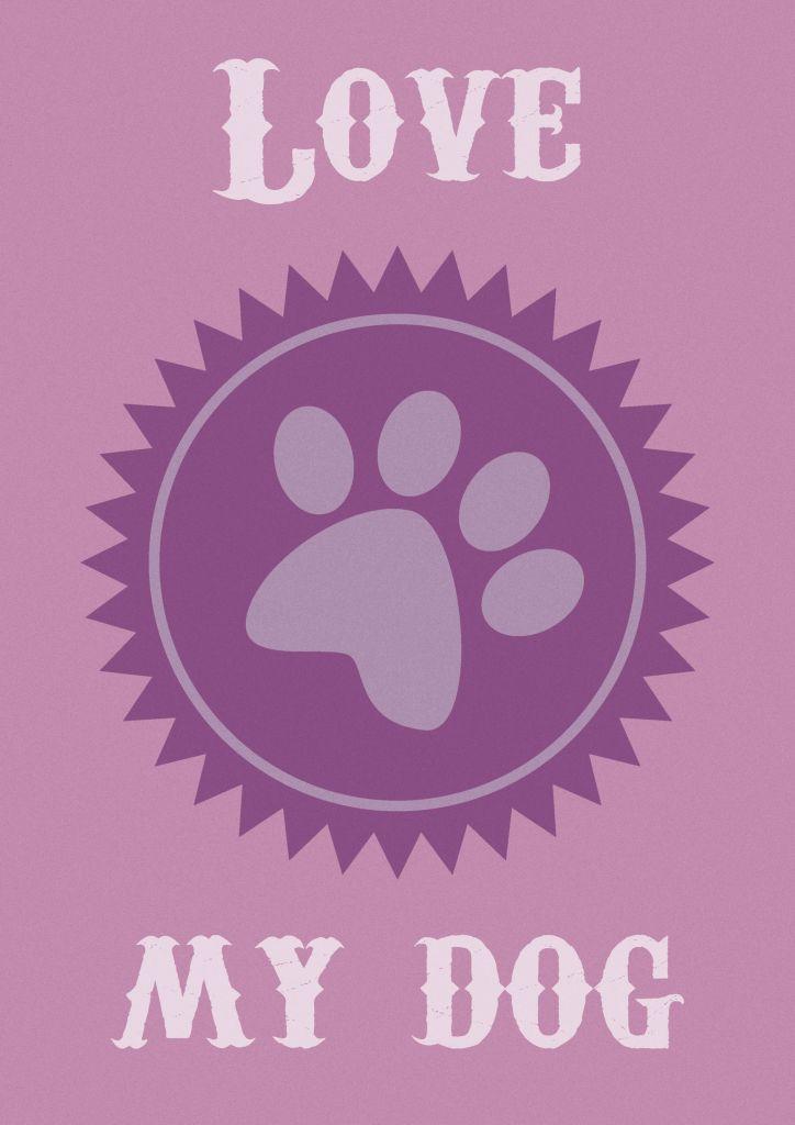 Pôster para imprimir grátis de cachorro