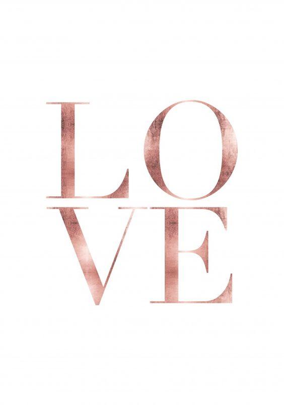 poster decorativo LOVE