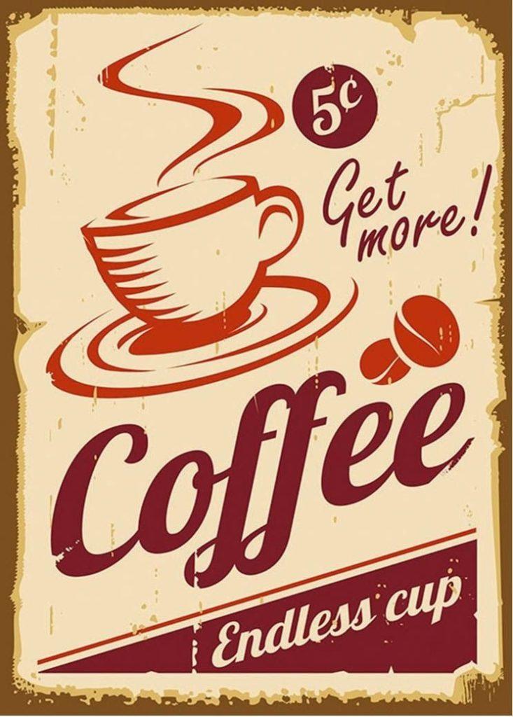 cartaz de café vintage