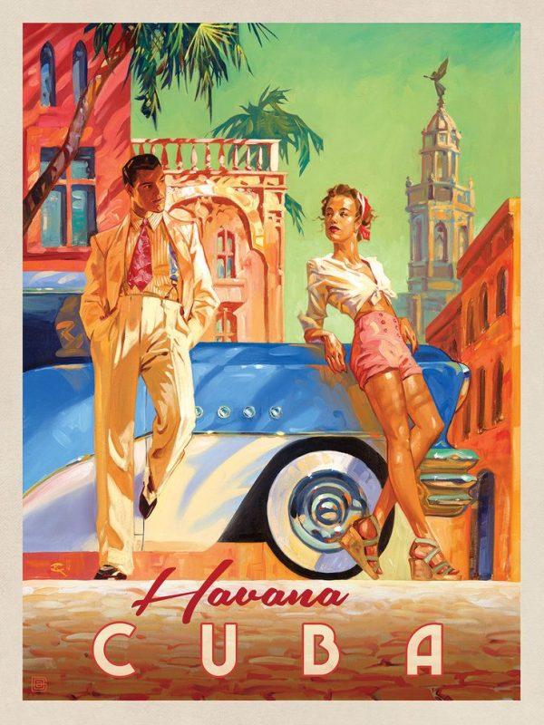 cartaz colorido vintage