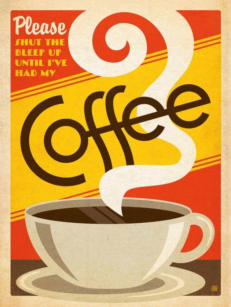 Pôster para imprimir grátis de café
