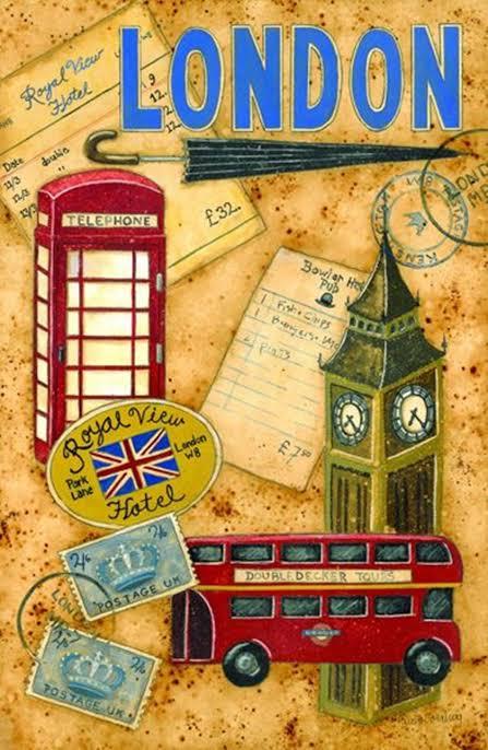 cartaz vintage de Londres