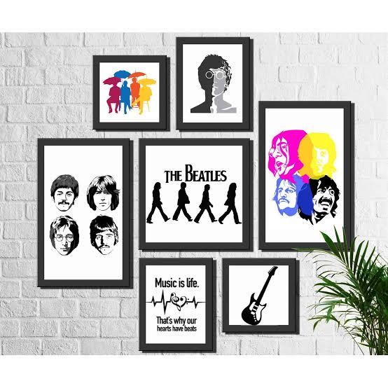 Pôster para imprimir grátis da banda Beatles