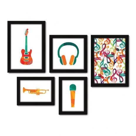 cartaz com informações musicais