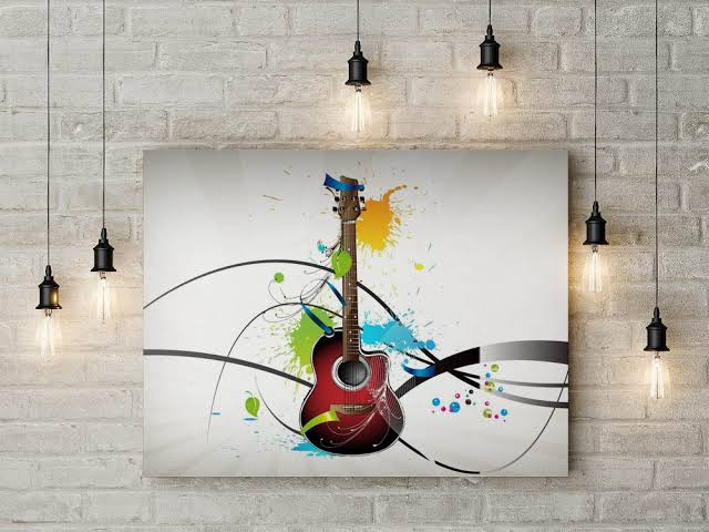 cartaz com violão