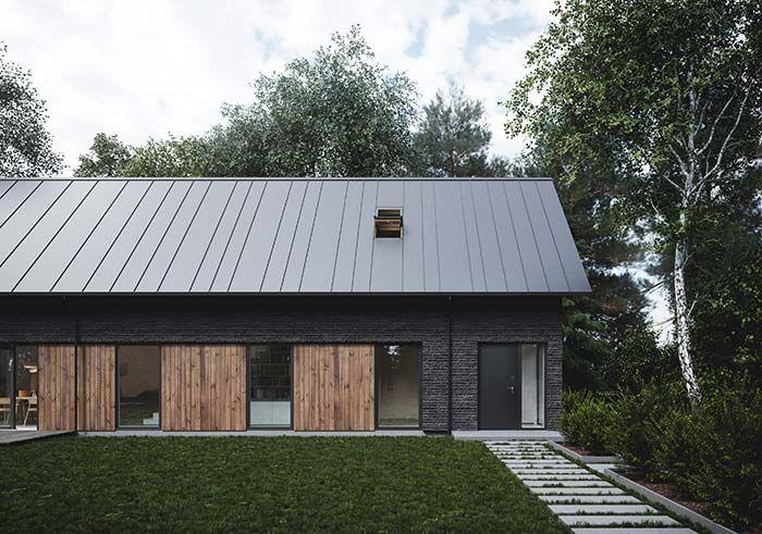 telhado de zinco em residência
