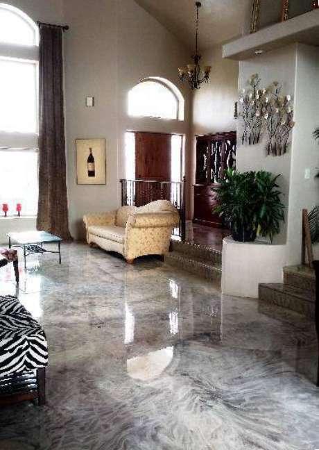efeito marmorizado no piso