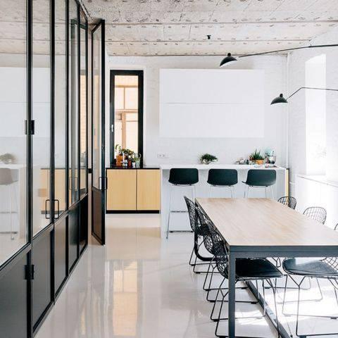 cozinha decorada com porcelanato liquido