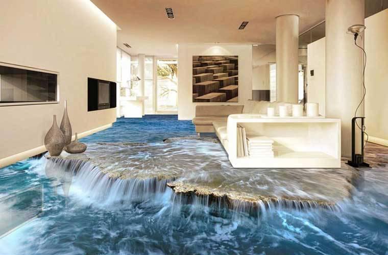 piso com efeito 3D